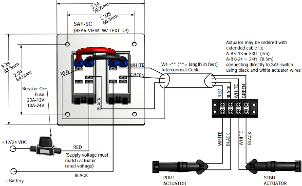 [ZHKZ_3066]  Wiring Diagram - Flat Rocker Switch (SAF-S, SAF-NS, SF-S Series) |  Lectrotab Electromechanical Trim Tab Systems | Switch Series Wiring Diagram |  | Lectrotab