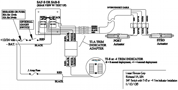 wiringDiagramSAFSti8 wiring diagram flat rocker switch (saf s, saf ns, sf s series bennett trim tabs wiring diagram at soozxer.org